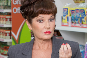 Trollied. Lorraine (Stephanie Beacham). Copyright: Roughcut Television.