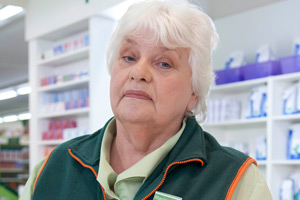 Trollied. Margaret (Rita May). Copyright: Roughcut Television.