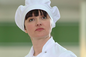 Trollied. Sharon (Josephine Enright). Copyright: Roughcut Television.