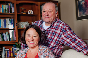 Two Doors Down. Image shows from L to R: Beth (Arabella Weir), Eric (Alex Norton). Copyright: BBC.