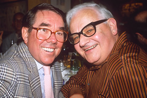 The Two Ronnies: In Their Own Words. Image shows from L to R: Ronnie Corbett, Ronnie Barker. Copyright: Richard Young / REX / Shutterstock.