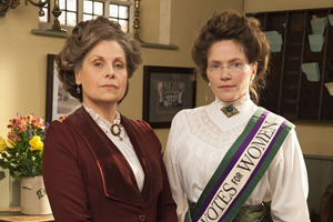 Up The Women. Image shows from L to R: Helen (Rebecca Front), Margaret (Jessica Hynes).