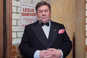 Urban Myths: Les Dawson's Parisienne Adventure. Older Les (Mark Addy). Copyright: Red Production Company.