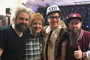 Matt Lucas and Matt Berry with Vic & Bob