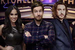 Virtually Famous. Image shows from L to R: Vicky Pattison, Chris Ramsey, Seann Walsh.