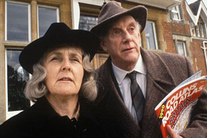 Waiting For God. Image shows from L to R: Diana Trent (Stephanie Cole), Tom Ballard (Graham Crowden). Copyright: BBC.