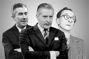 Image shows from L to R: Peter Jones, Donald Hewlett, Charles Hawtrey. Copyright: BBC.