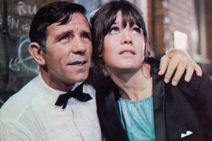What's Good For The Goose. Image shows from L to R: Timothy Bartlett (Norman Wisdom), Nikki (Sally Geeson).