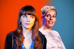 What's Normal?. Image shows from L to R: Aisling Bea, Sara Pascoe. Copyright: Phil McIntyre Entertainment.
