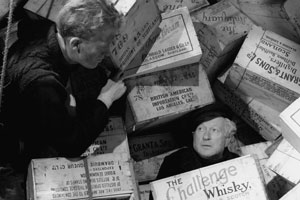 Whisky Galore!. Image shows from L to R: George Campbell (Gordon Jackson), The Biffer (Morland Graham). Copyright: Ealing Studios.