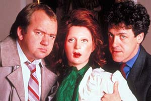 Wilt. Image shows from L to R: Flint (Mel Smith), Wilt (Griff Rhys Jones). Copyright: London Weekend Television.