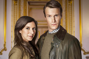 The Windsors. Image shows from L to R: Kate (Louise Ford), Wills (Hugh Skinner). Copyright: Noho Film and TV.