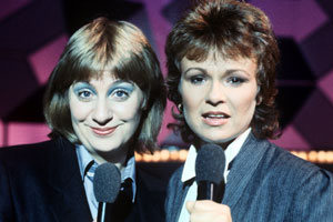 Wood And Walters. Image shows from L to R: Victoria Wood, Julie Walters. Copyright: Granada Television.