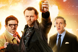 The World's End. Image shows from L to R: Andy Knight (Nick Frost), Gary King (Simon Pegg), Oliver (Martin Freeman). Copyright: STUDIOCANAL / Working Title Films.