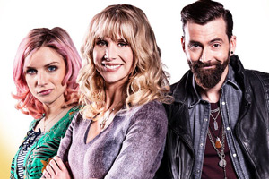 You, Me And Him. Image shows from L to R: Alex Jones (Faye Marsay), Olivia Miller (Lucy Punch), John (David Tennant).