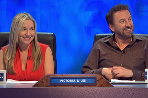 8 Out Of 10 Cats Does Countdown. Image shows from L to R: Victoria Coren Mitchell, Lee Mack.