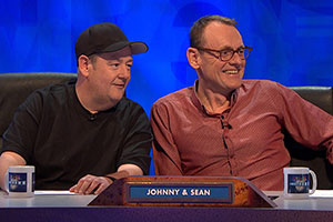 8 Out Of 10 Cats Does Countdown. Image shows from L to R: Johnny Vegas, Sean Lock. Copyright: Zeppotron.