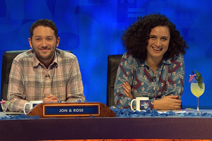 8 Out Of 10 Cats Does Countdown. Image shows from L to R: Jon Richardson, Rose Matafeo.
