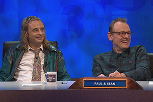 8 Out Of 10 Cats Does Countdown. Image shows from L to R: Paul Foot, Sean Lock.