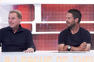 A League Of Their Own. Image shows from L to R: Harry Redknapp, Jamie Redknapp. Copyright: CPL Productions.