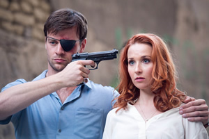 Action Team. Image shows from L to R: Bogohardt (Wolfgang Cerny), Samantha (Amy Beth Hayes).