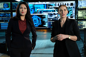 Action Team. Image shows from L to R: Gemma Stone (Yasmine Akram), Ruth (Vicky McClure).