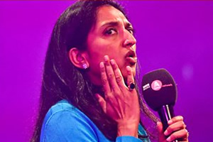 Asian Network Comedy. Sindhu Vee. Copyright: BBC.