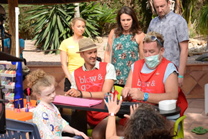 Benidorm. Image shows from L to R: Jodie Dawson (Honor Kneafsey), Amber (Jessica Ellerby), Troy (Paul Bazely), Sheron Dawson (Julie Graham), Kenneth (Tony Maudsley), Billy Dawson (Steve Edge). Copyright: Tiger Aspect Productions.