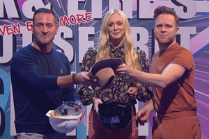 Celebrity Juice. Image shows from L to R: Will Mellor, Fearne Cotton, Olly Murs.