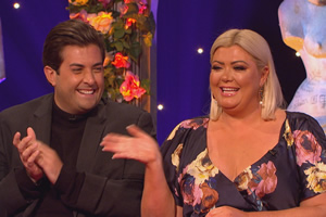 Celebrity Juice. Image shows from L to R: James Argent, Gemma Collins.