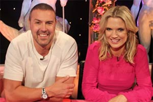 Celebrity Juice. Image shows from L to R: Paddy McGuinness, Charlotte Hawkins.