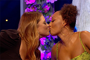 Celebrity Juice. Image shows from L to R: Emily Atack, Melanie Brown.