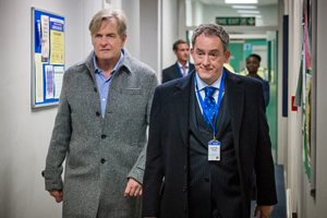 Cold Feet. Image shows from L to R: David Marsden (Robert Bathurst), Floyd Vardy (Dominic Coleman). Copyright: Big Talk Productions.