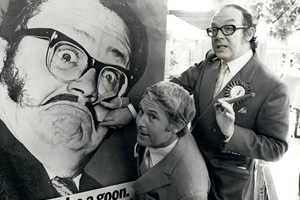 Comedy Legends. Image shows from L to R: Ernie Wise, Eric Morecambe. Copyright: Shutterstock.