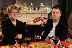 Dave's Advent Calendar. Image shows from L to R: Josh Widdicombe, Tom Craine.