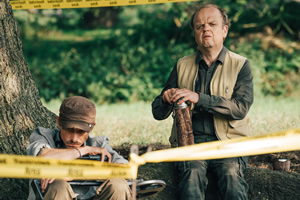 Detectorists. Image shows from L to R: Andy Stone (Mackenzie Crook), Lance Stater (Toby Jones).