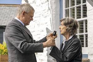 Doc Martin. Image shows from L to R: Dr Martin Ellingham (Martin Clunes), Aunt Ruth Ellingham (Eileen Atkins).