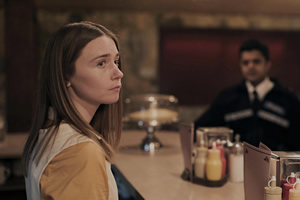 The End Of The F***ing World. Image shows from L to R: Alyssa (Jessica Barden), Sid (Divian Ladwa).