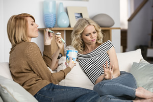 Episodes. Image shows from L to R: Carol Rance (Kathleen Rose Perkins), Morning Randolph (Mircea Monroe).