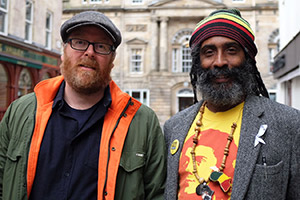Frankie Boyle's Tour Of Scotland. Image shows from L to R: Frankie Boyle, Graham Campbell.