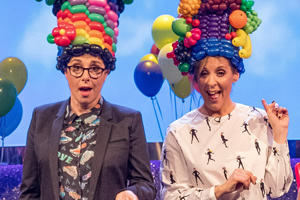 The Generation Game. Image shows from L to R: Mel Giedroyc, Sue Perkins. Copyright: BBC.