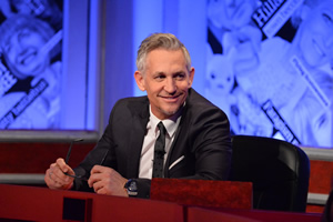 Have I Got News For You. Gary Lineker. Copyright: Hat Trick Productions.