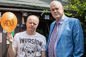 Hold The Sunset. Image shows from L to R: Roger (Jason Watkins), Phil (John Cleese). Copyright: BBC.