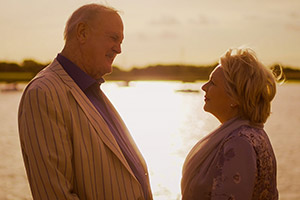 Hold The Sunset. Image shows from L to R: Phil (John Cleese), Edith (Alison Steadman). Copyright: BBC.