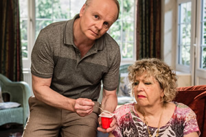 Hold The Sunset. Image shows from L to R: Roger (Jason Watkins), Queenie Gale (Anne Reid). Copyright: BBC.
