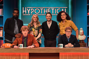 Hypothetical. Image shows from L to R: Romesh Ranganathan, James Acaster, Rachel Parris, Jon Richardson, Rose Matafeo, Josh Widdicombe. Copyright: Hat Trick Productions.