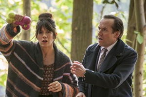 I Want My Wife Back. Image shows from L to R: Bex (Caroline Catz), Murray (Ben Miller).