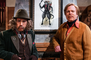 Inside No. 9. Image shows from L to R: Klaus (Reece Shearsmith), Julian Devonshire (Steve Pemberton). Copyright: BBC.