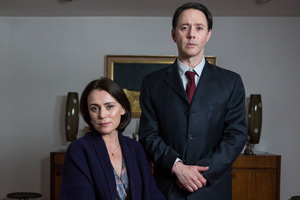 Inside No. 9. Image shows from L to R: Louise (Keeley Hawes), David (Reece Shearsmith). Copyright: BBC.