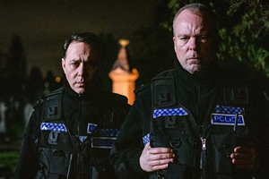 Inside No. 9. Image shows from L to R: S/PC Varney (Reece Shearsmith), PC Thompson (Steve Pemberton).